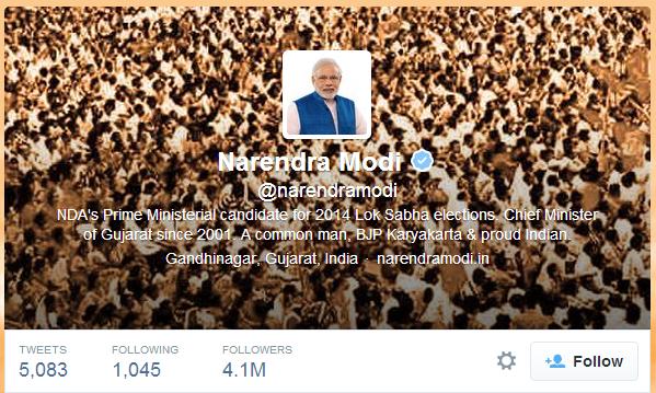 Narendra Modi Social media campaign