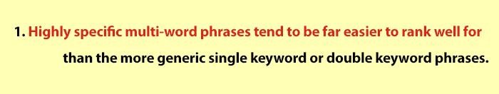 Benefits of Long tail keyword
